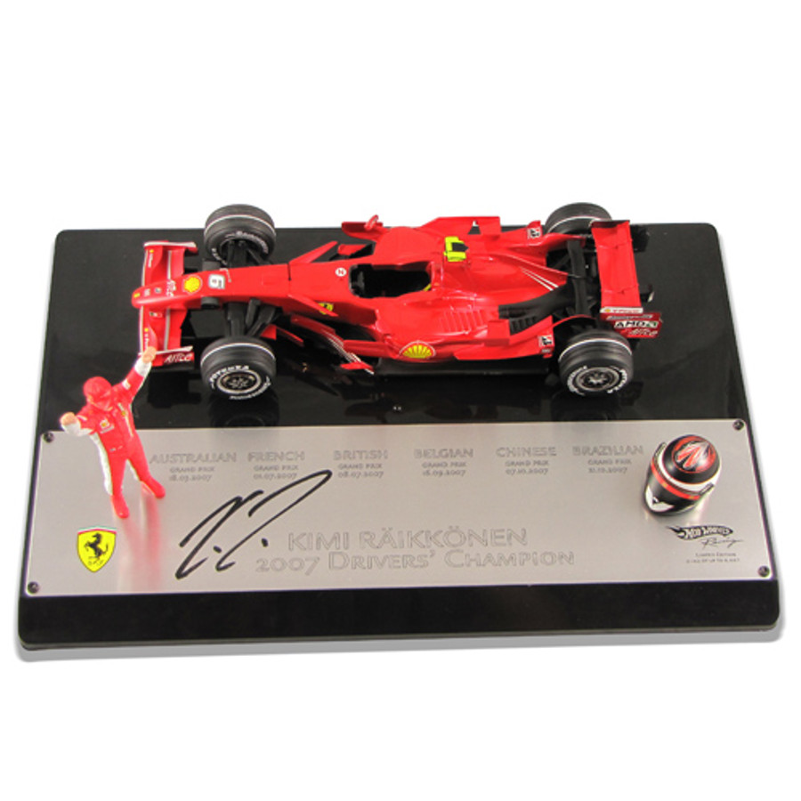 Kimi Raikkonen Signed World Champion 2007 1:18 Model