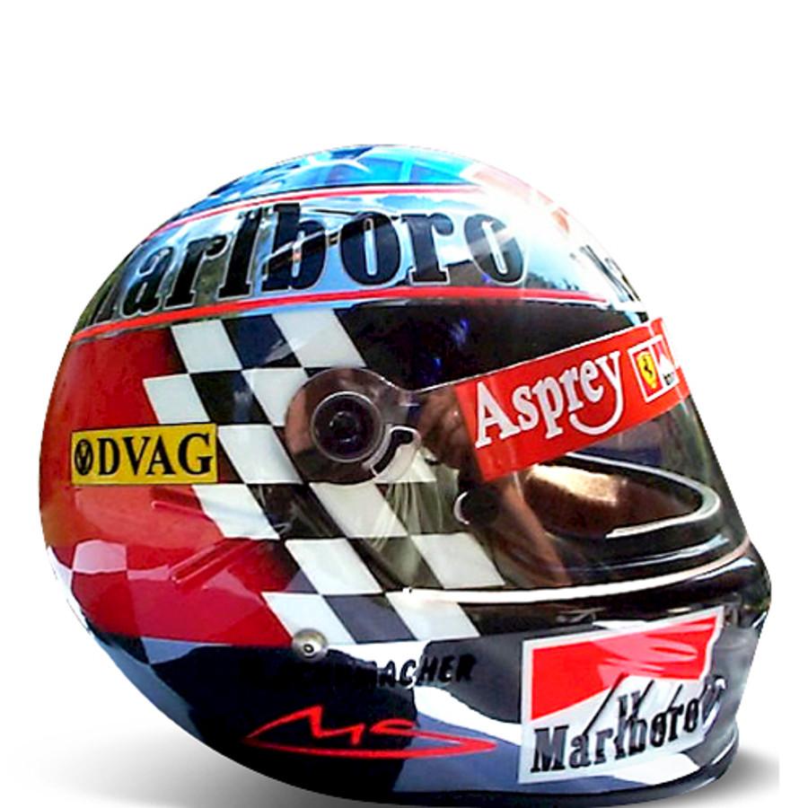 1998 Japan Chrome Schumacher Replica Helmet