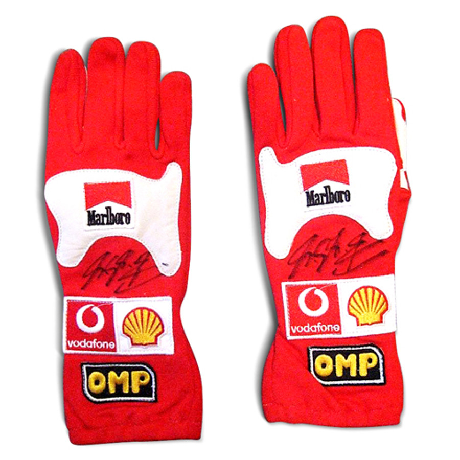 Michael Schumacher Used / Signed Gloves