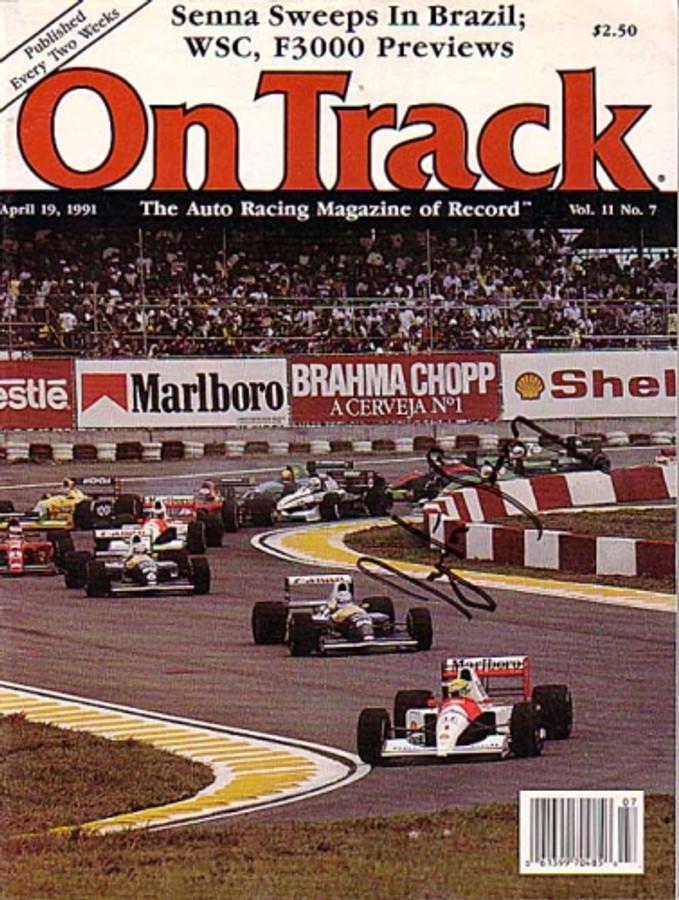 """Ayrton Senna Signed 1991 """"On Track"""" Magazine"""