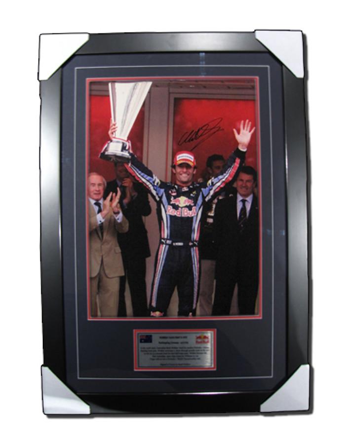 2010 Mark Webber Monaco GP Win Signed Frame - 3