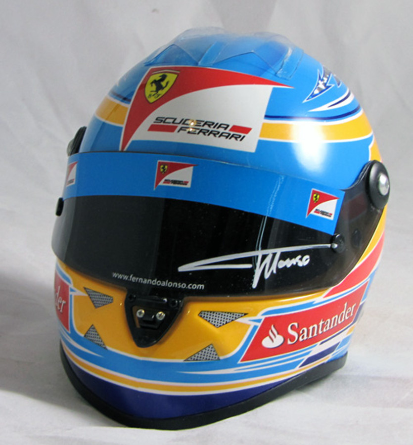 Fernando Alonso Signed Half Scale 2012 Replica Helmet