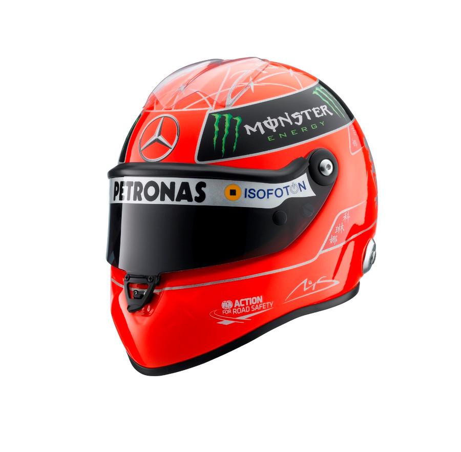 Michael Schumacher Signed Schuberth Half Scale Replica helmet 2012 Edition