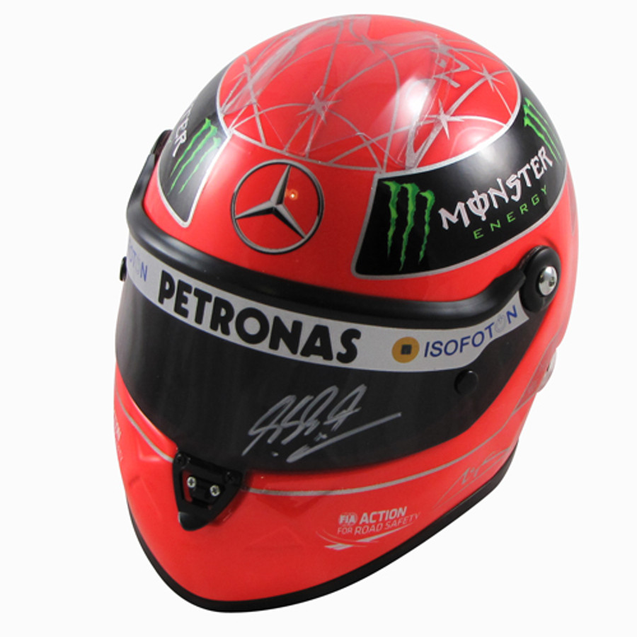 Michael Schumacher Signed Schuberth Half Scale Replica helmet 2012 Edition