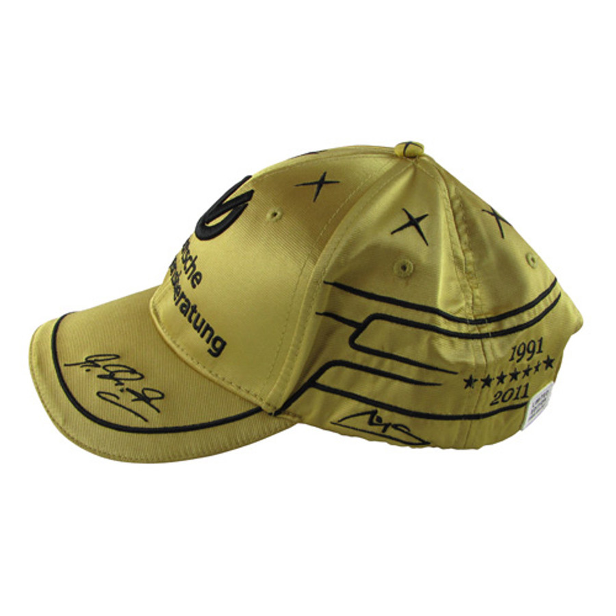 Michael Schumacher Signed '20 Years' GOLD Limited Edition Cap