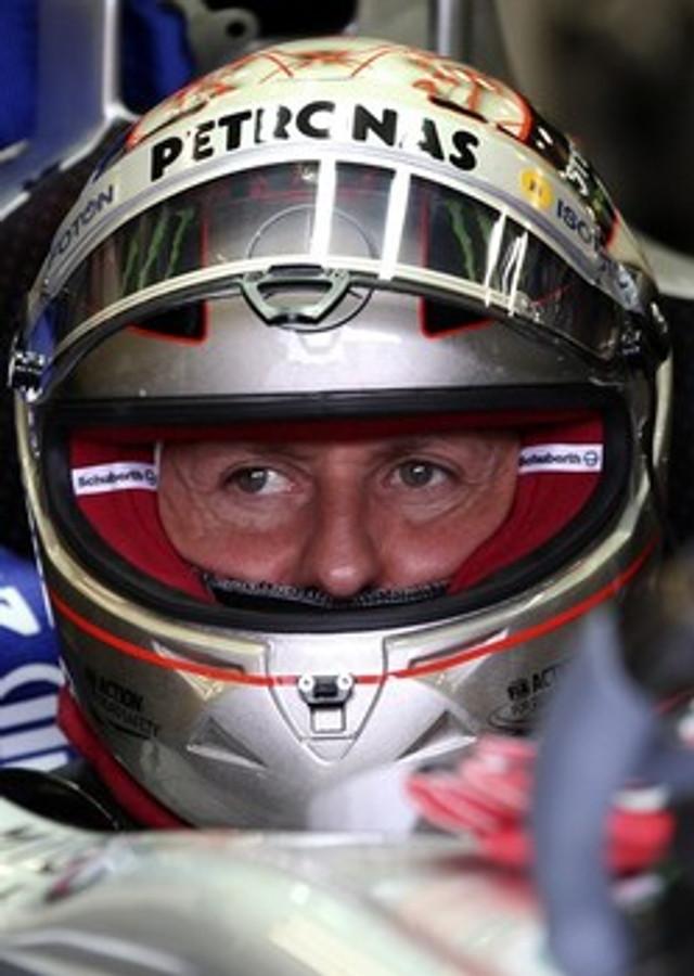 Michael Schumacher Signed 1:2 Size 2012 SPA 300 Races Platinum Edition Helmet