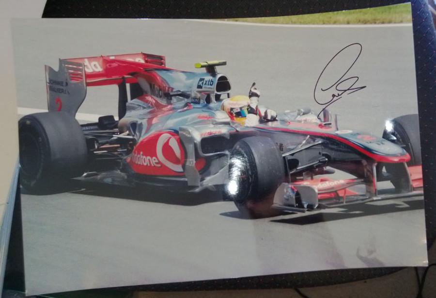 Lewis Hamilton Large A3 Signed Photograph