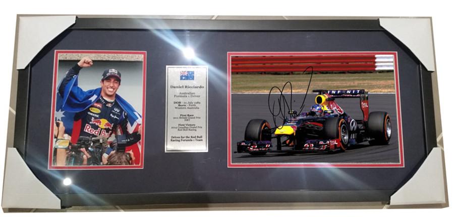 2014 Daniel Ricciardo Red Bull Signed Frame - 4