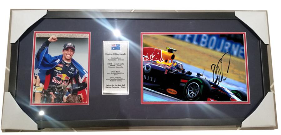 2014 Daniel Ricciardo Red Bull Signed Frame - 5