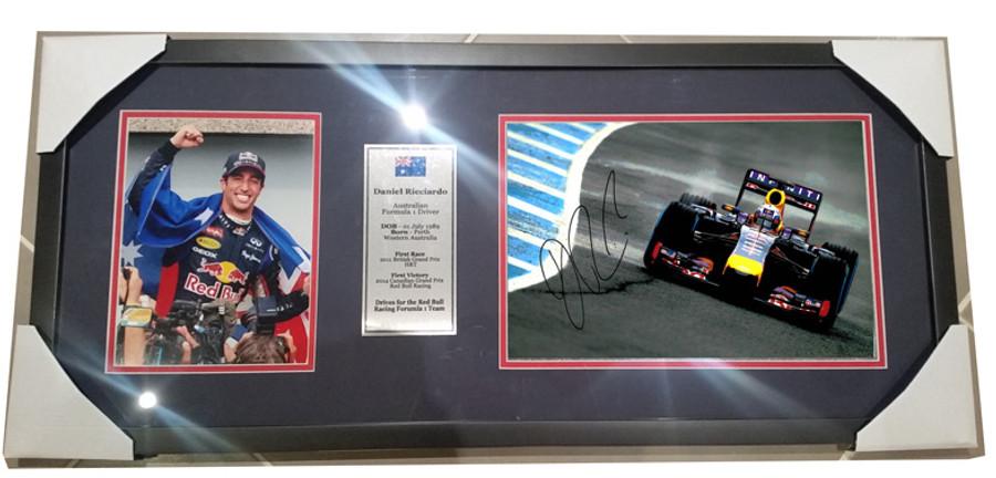 2014 Daniel Ricciardo Red Bull Signed Frame - 8