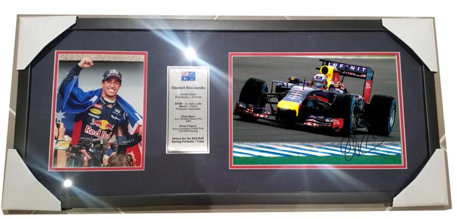 2014 Daniel Ricciardo Red Bull Signed Frame - 9