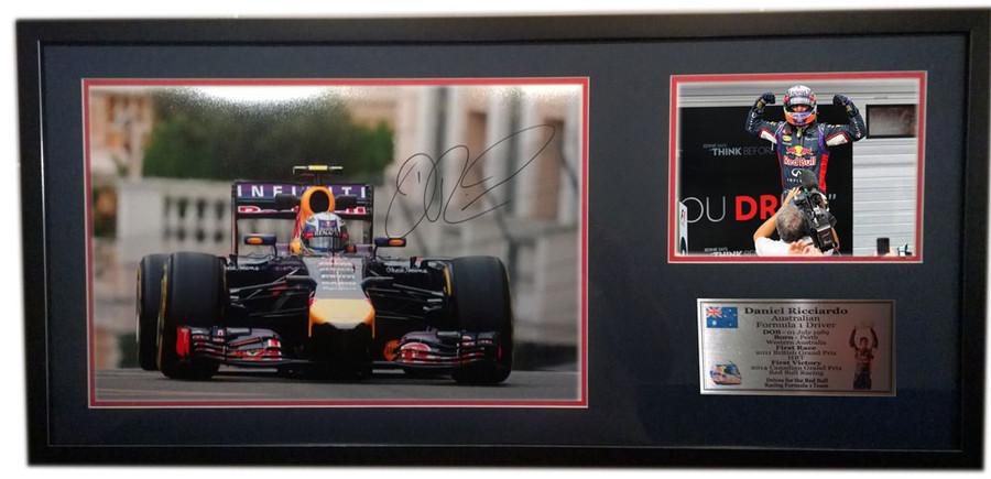 2014 Daniel Ricciardo Red Bull Monaco GP Large Signed Frame