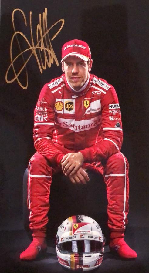 Sebastian Vettel Signed Ferrari Driver Card