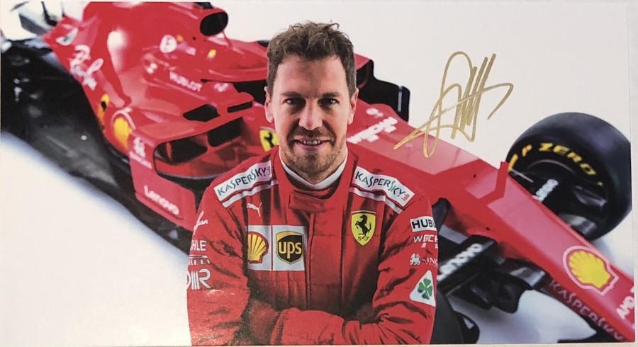 2018 Sebastian Vettel Signed Ferrari Driver Card