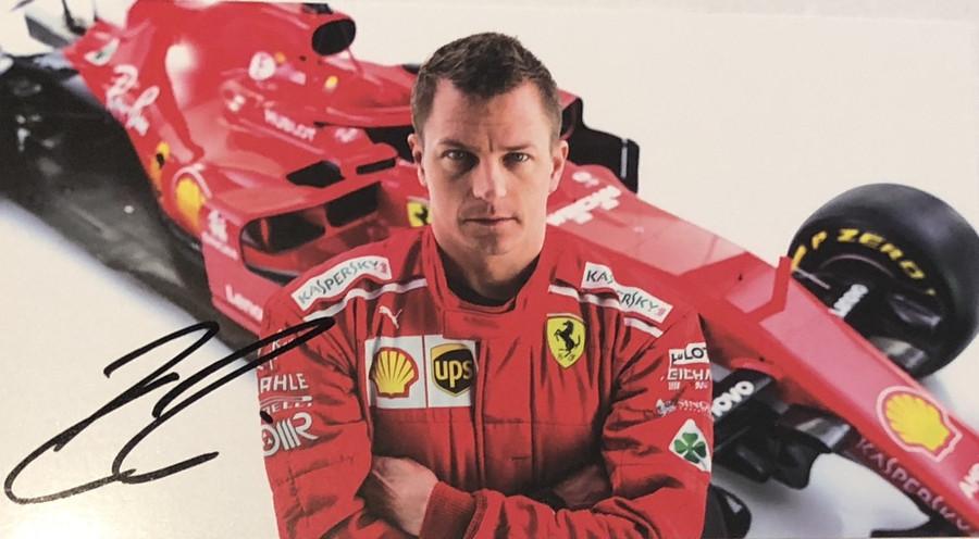 2018 Kimi Raikkonen Signed Ferrari Driver Card