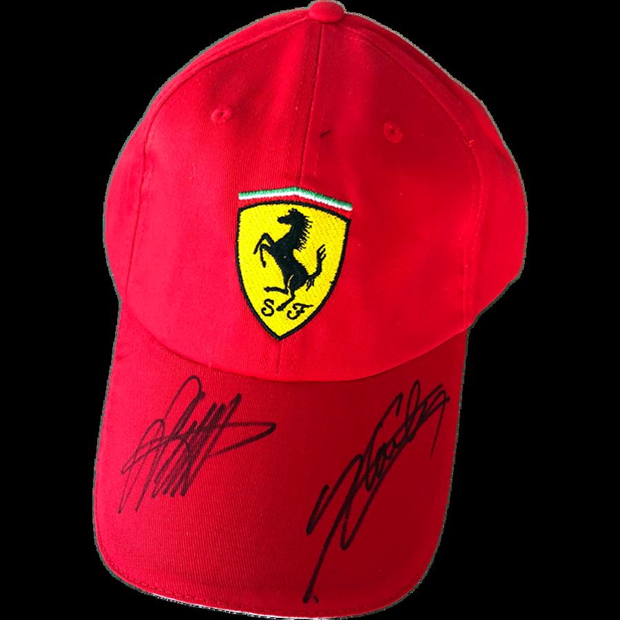 Sebastian Vettel and Charles Leclerc Ferrari Signed 2019 Cap