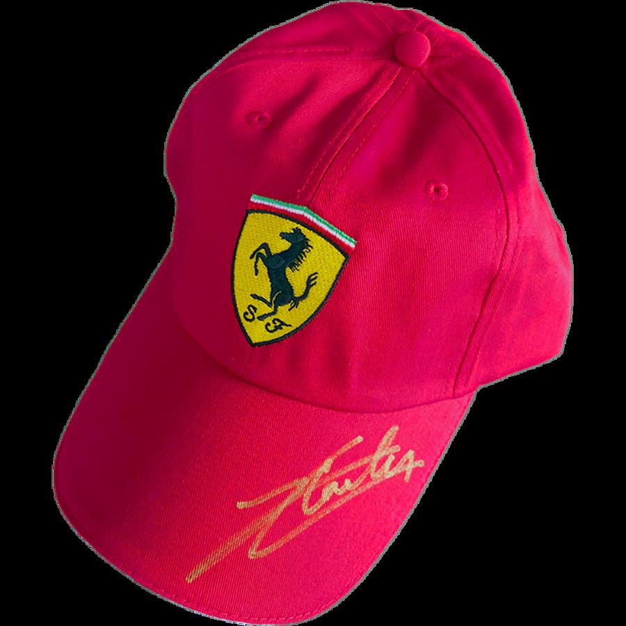 Charles Leclerc Ferrari Signed 2019 Cap - Gold
