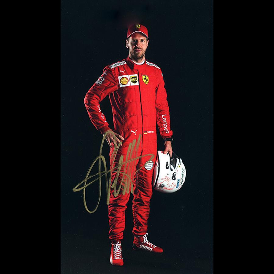 2019 Sebastian Vettel Signed Ferrari Driver Card - Australian Limited Edition