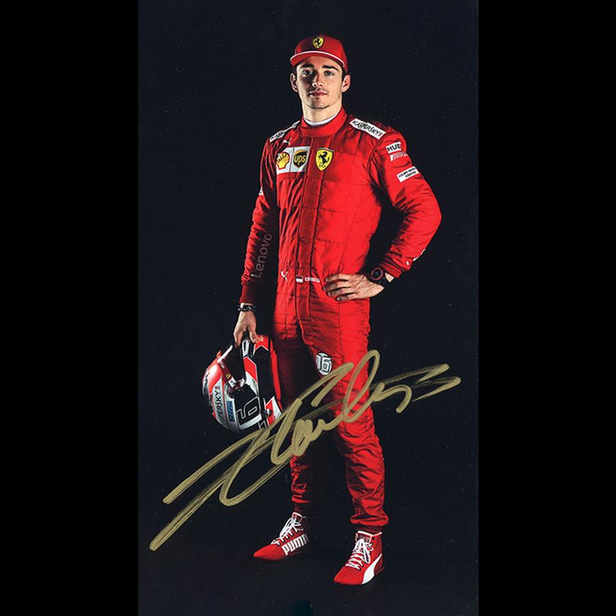 2019 Charles Leclerc Signed Ferrari Driver Card - Australian Limited Edition