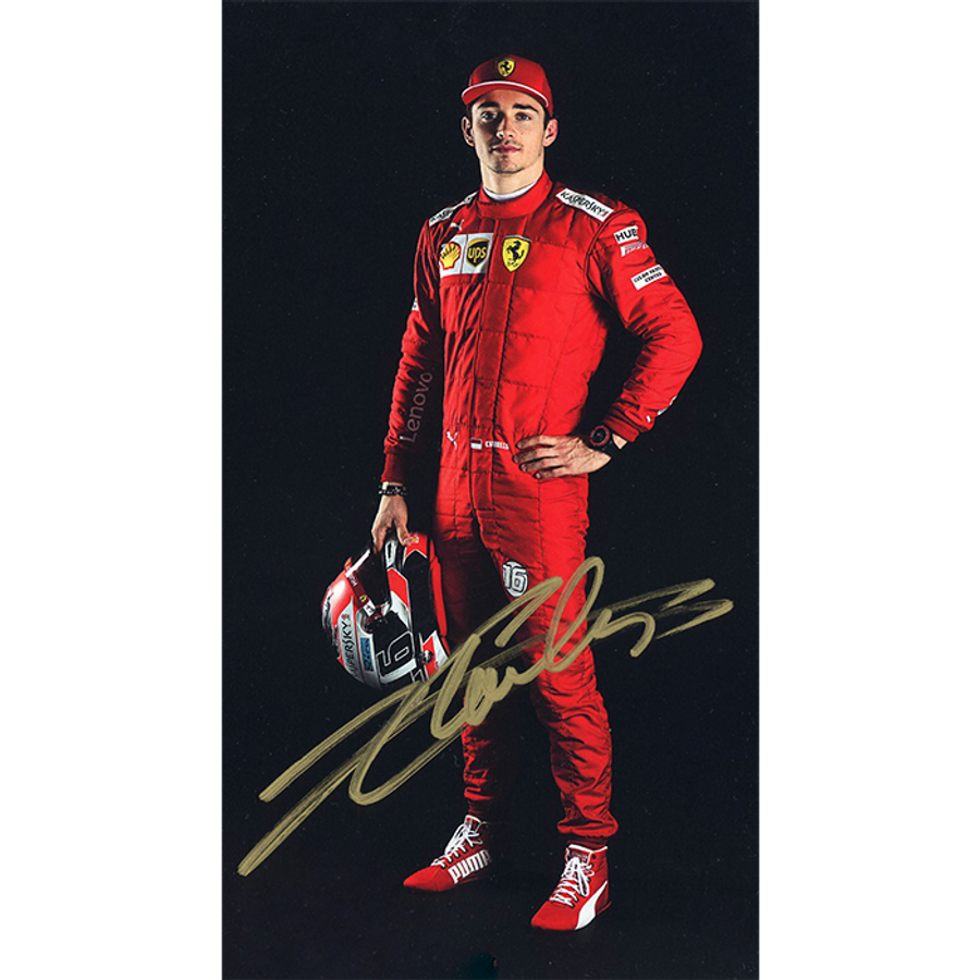 2019 Charles Leclerc Signed Ferrari Driver Card - Australian Limited Edition