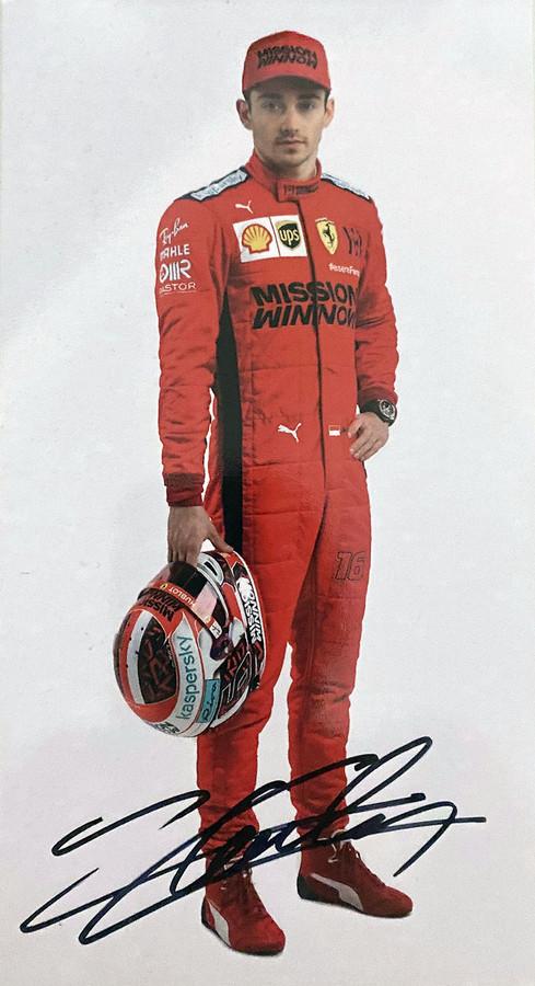 2020 Charles Leclerc Signed Ferrari Driver Card - Australian Limited Edition