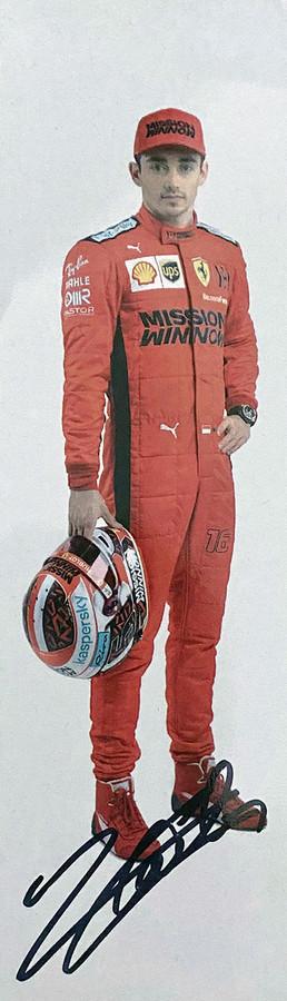 2020 Charles Leclerc Signed Ferrari Driver Card - Slim - Australian Limited Edition