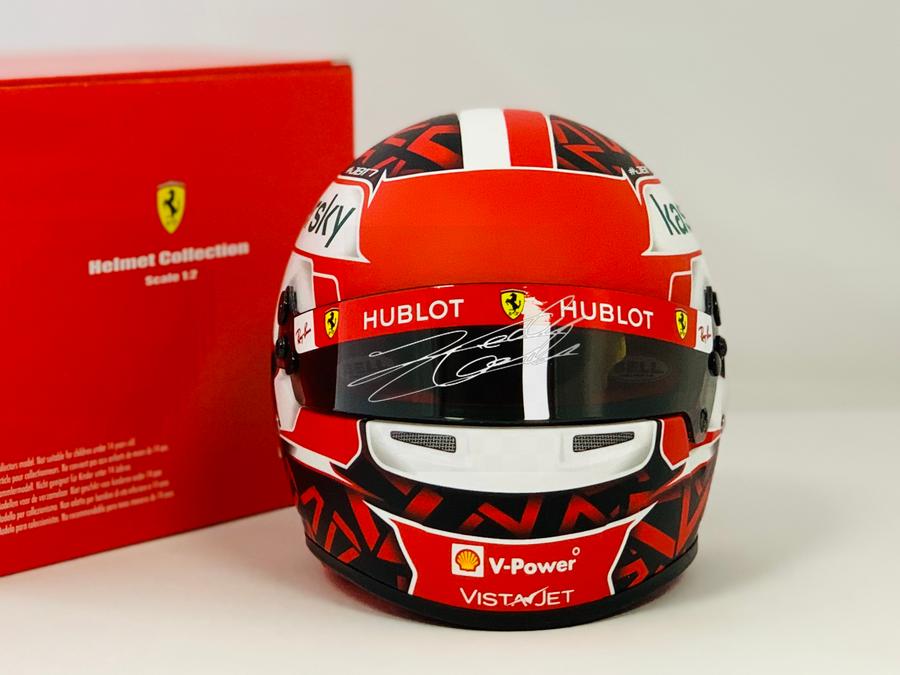 Signed Charles Leclerc 2020 Ferrari Bell 1:2 Helmet