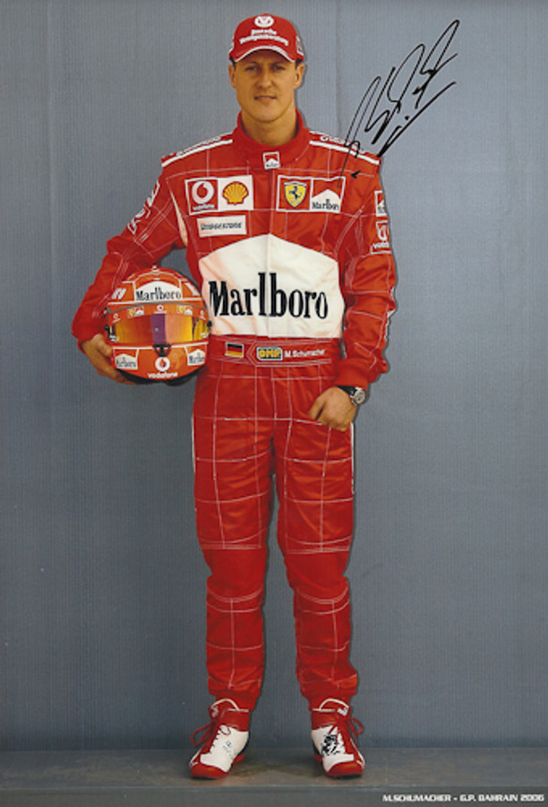 Michael Schumacher Signed Photograph Bahrain 2006