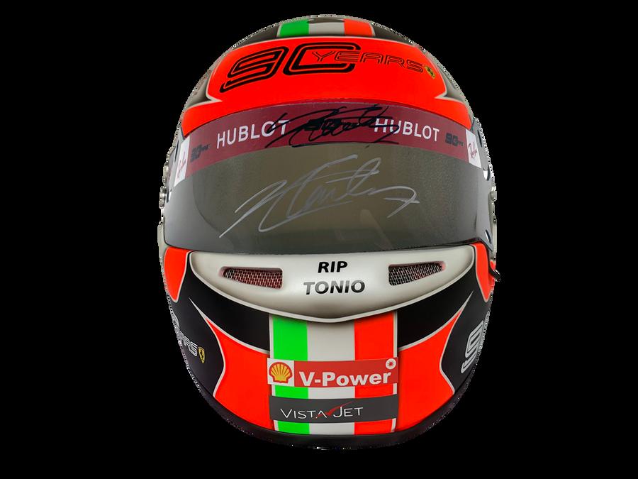 Signed Charles Leclerc 2019 Monza Win Ferrari Full Size Replica Helmet