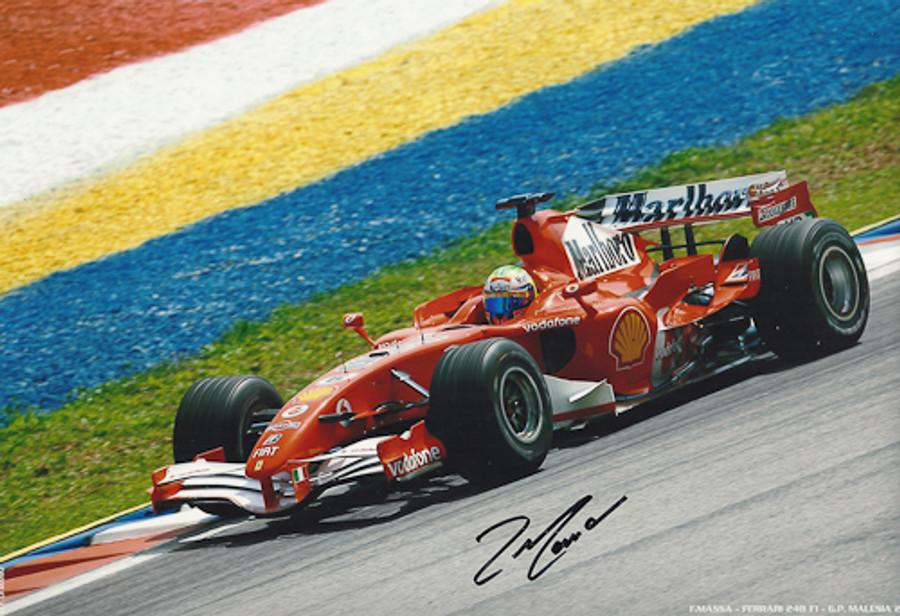 Felipe Massa Signed Photograph Malaysia 2006