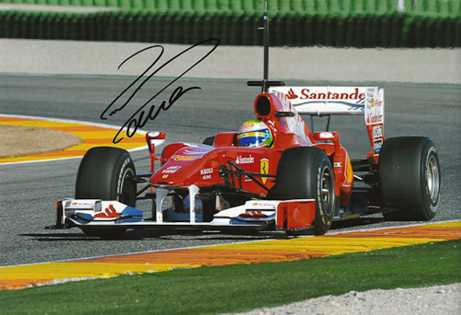 Felipe Massa Signed Photograph 2010 - 2