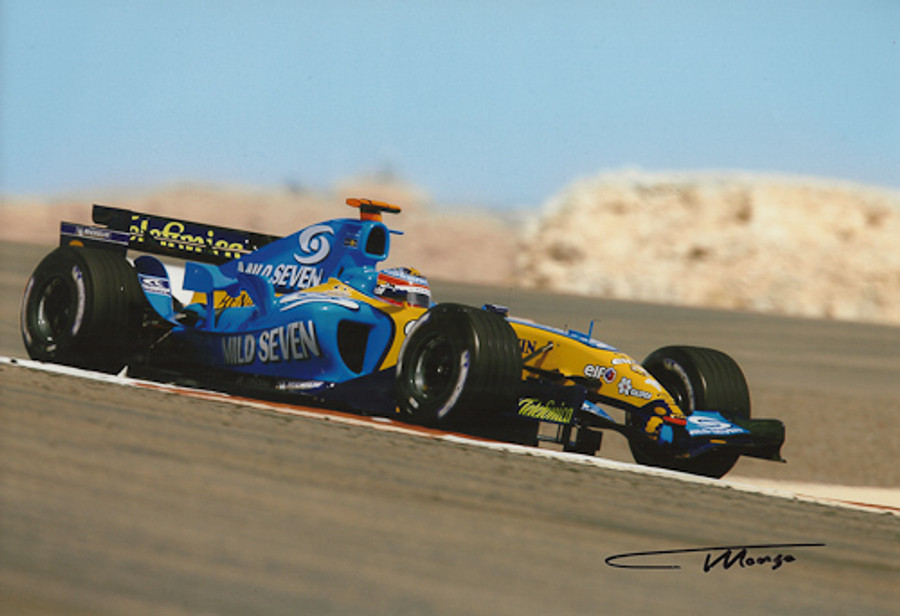 Fernando Alonso Signed Photograph Bahrain 2006