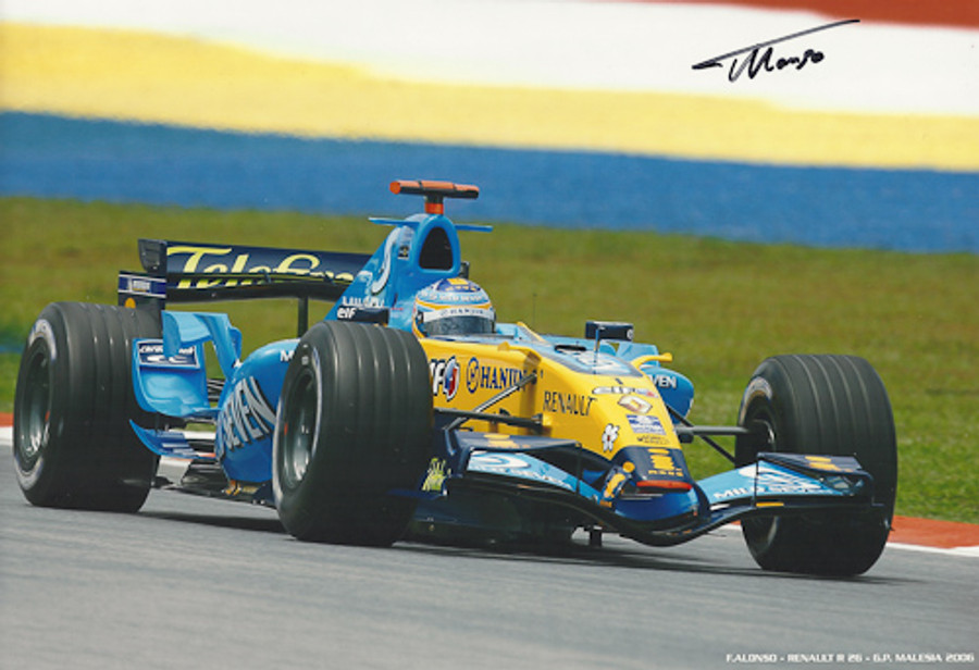 Fernando Alonso Signed Photograph Malaysia 2006