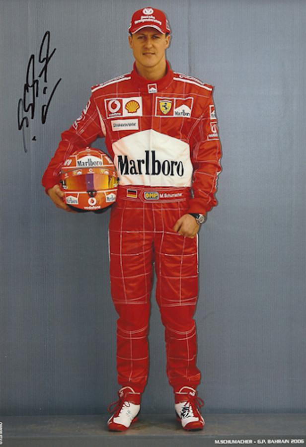 Michael Schumacher Signed Photograph Bahrain 2006 - 4