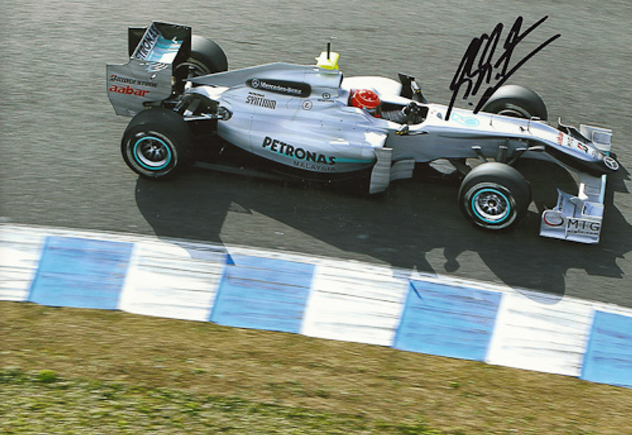 Michael Schumacher Signed Photograph 2010