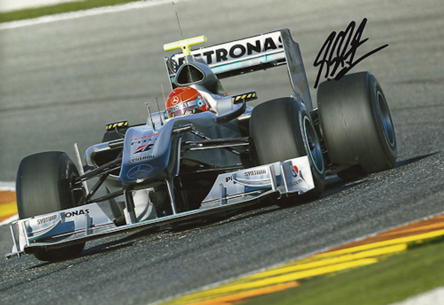 Michael Schumacher Signed Photograph 2010 - 6