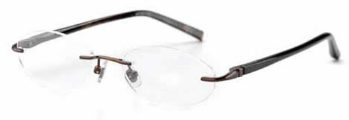 Jones NY Designer Eyeglasses J133 in Brown :: Rx Bi-Focal