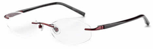 Jones NY Designer Eyeglasses J133 in Burgundy :: Rx Bi-Focal