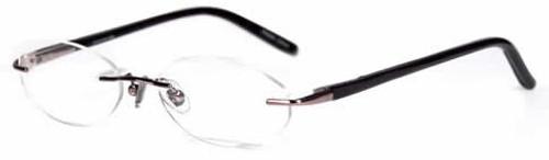 Jones NY Designer Eyeglasses J133 in Gun-Metal :: Rx Bi-Focal