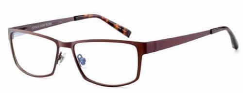 Jones NY Designer Eyeglasses J327 in Dark-Matte-Brown :: Rx Bi-Focal