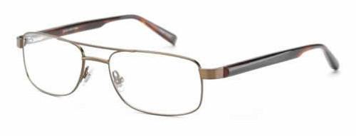 Jones NY Designer Eyeglasses J335 in Matte-Brown :: Rx Bi-Focal
