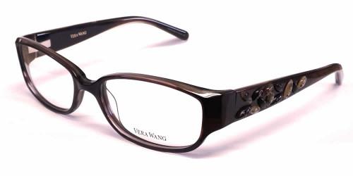Vera Wang Designer Eyeglasses V088 in Ruby :: Progressive