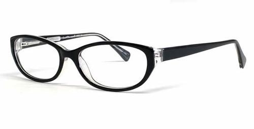 Ernest Hemingway Eyeglass Collection 4652 in Black-Crystal :: Rx Bi-Focal