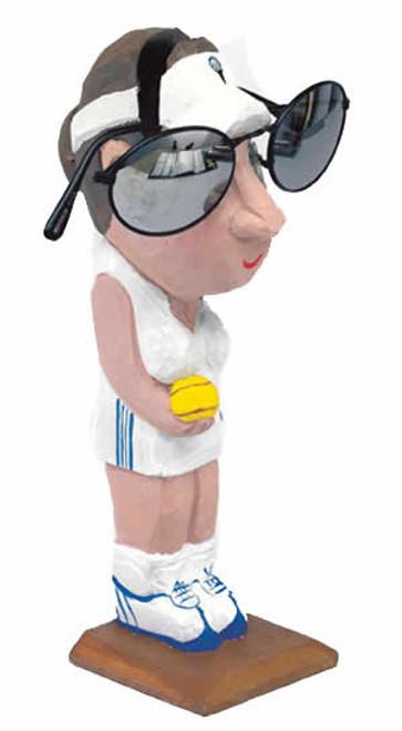 Tennis-Lady Peeper Eyeglass Holder Stand