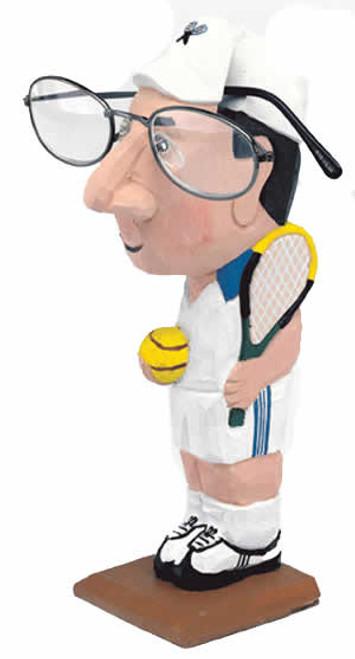 Tennis-Man Peeper Eyeglass Holder Stand