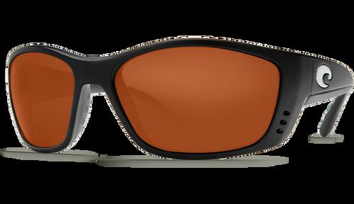 Costa Del Mar Polarized 580P Sunglasses GLOBAL FIT: Fisch in Black & Copper Lens