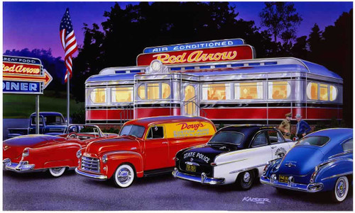 Classic Cars 240-87-6 Artwork Micro Fiber Cleaning Cloth
