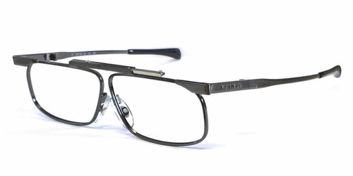 SlimFold Kanda of Japan Folding Eyeglasses w/ Case in Gun-Metal (Model 003) :: Rx Bi-Focal