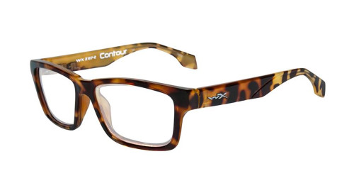 Wiley-X Contour Optical Eyeglass Collection in Gloss-Brown-Demi (WSCON04) :: Progressive