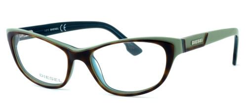 Diesel DL5039 Optical Eyeglass Collection in Tortoise & Green (056) :: Custom Left & Right Lens
